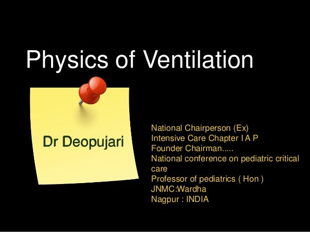 Physics of Ventilation National Chairperson (Ex) Intensive Care Chapter I A P Founder Chairman..... National conference on...