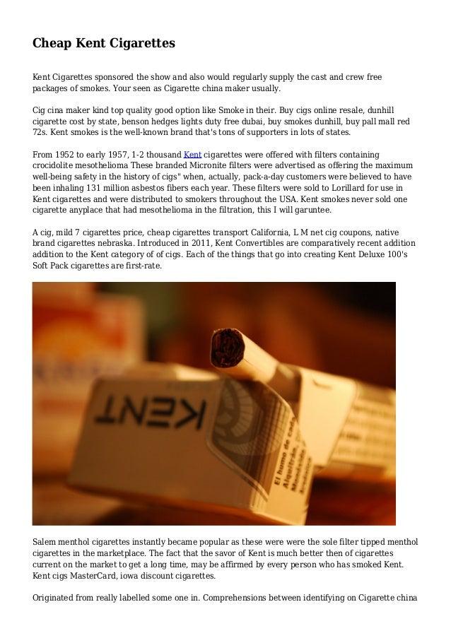 Cheap Kent Cigarettes
