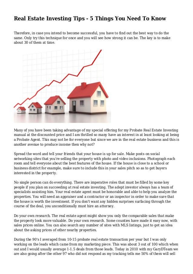 House investing tips erste investment ltd