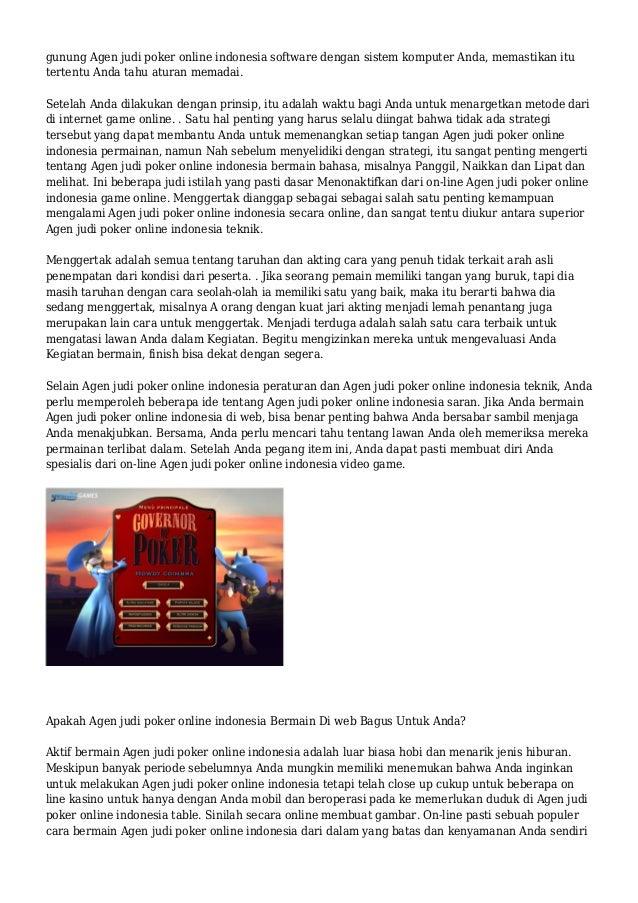 Agen judi poker online indonesia Menikmati online Slide 2