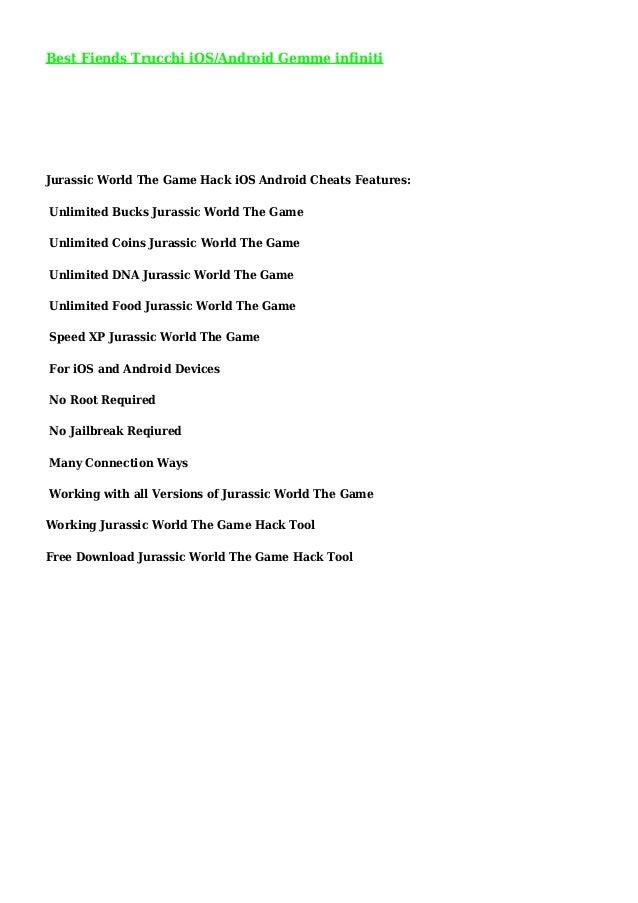 Download Jurassic World The Game Hack Tool V1 2 9 No Survey