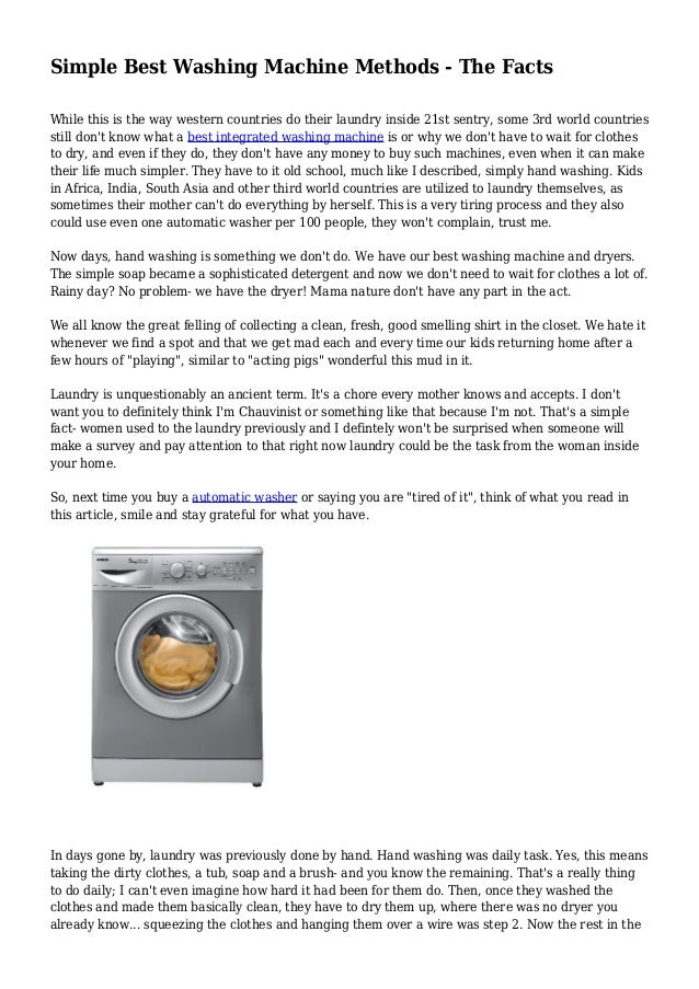 Simple best washing machine methods the facts - Interesting facts about washing machines ...