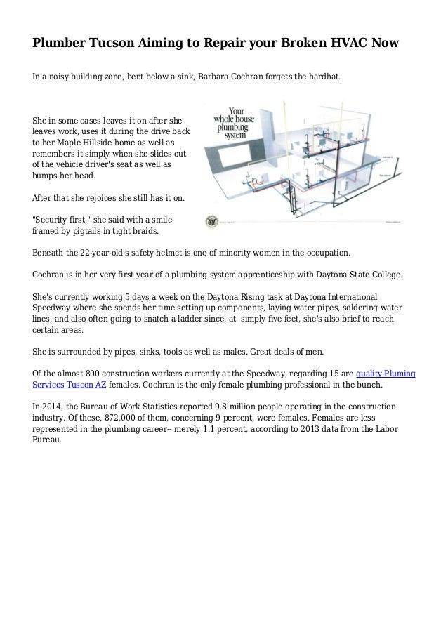 Plumber Tucson Aiming to Repair your Broken HVAC Now