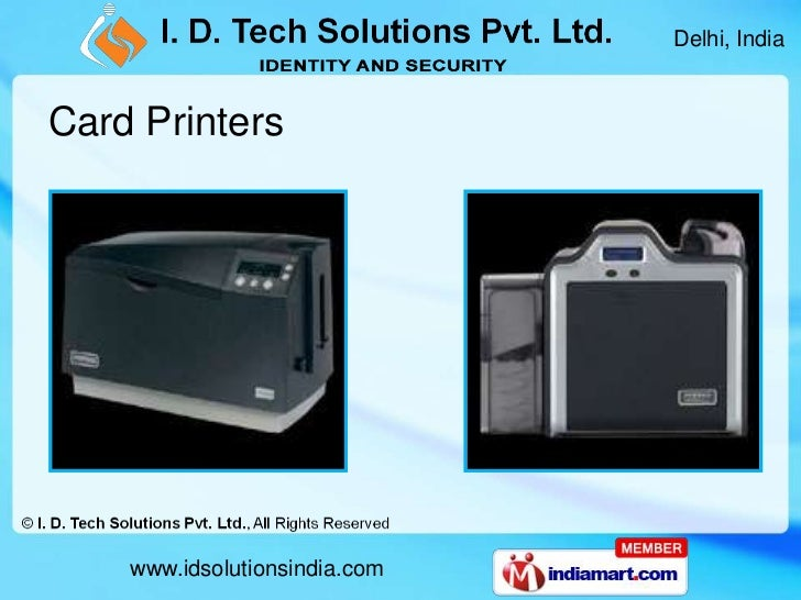 Plastic Card Solutions By I D Tech Solutions Pvt Ltd