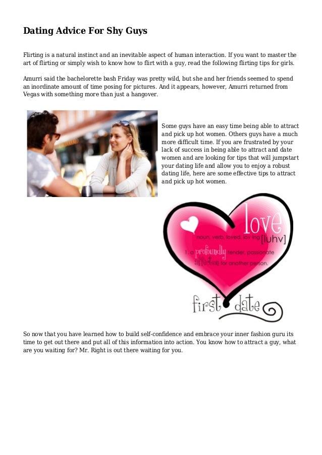 Dating advice flirting