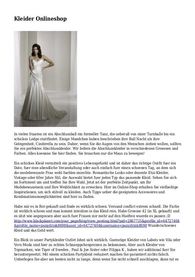 finest selection a78e2 69f04 Kleider Onlineshop