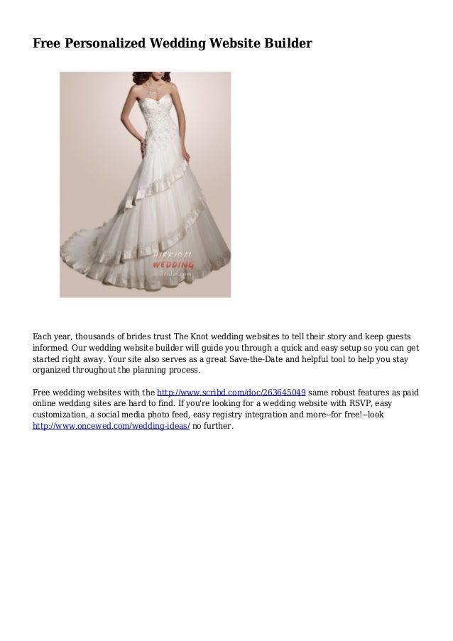 free personalized wedding website builder