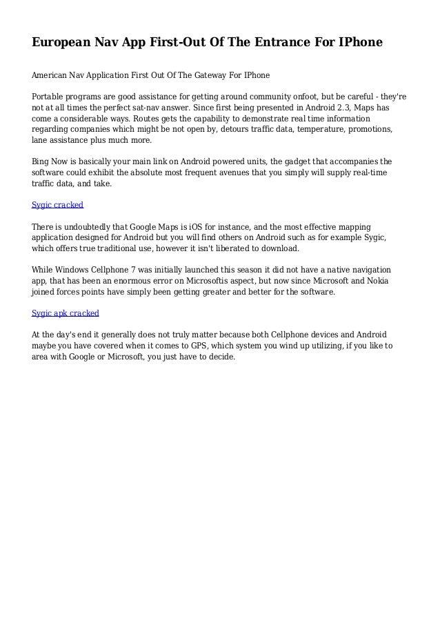 ⭐ Sygic apk cracked deutsch | Sygic Truck Navigation 13 8 2 Apk