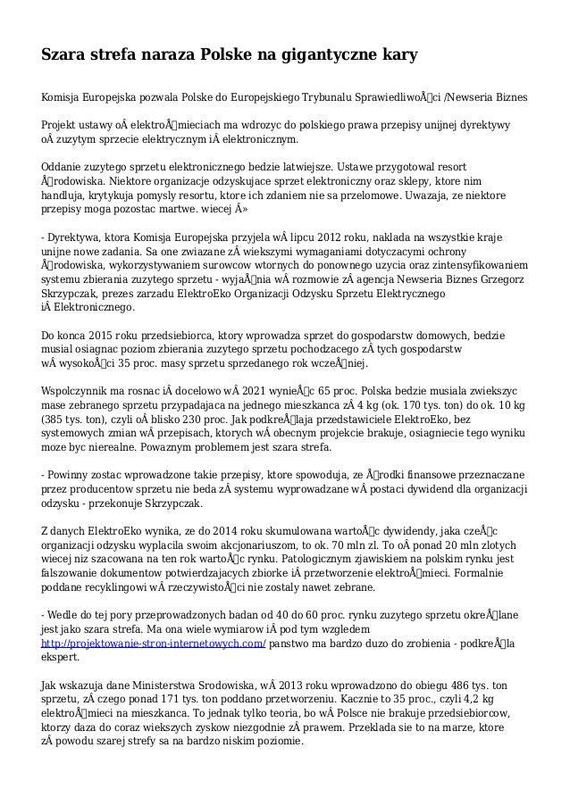 Szara strefa naraza Polske na gigantyczne kary Komisja Europejska pozwala Polske do Europejskiego Trybunalu Sprawiedliwoś...