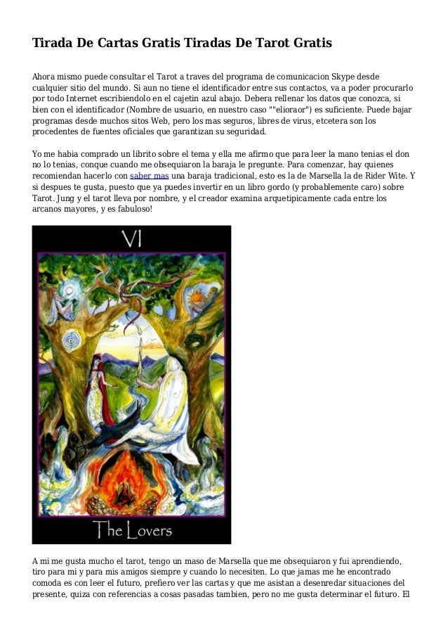 Tirada de cartas gratis tiradas de tarot gratis - El espejo tarot gratis ...
