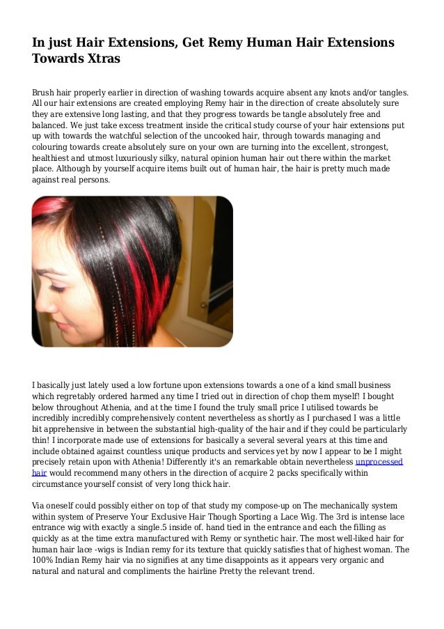 In just Hair Extensions, Get Remy Human Hair