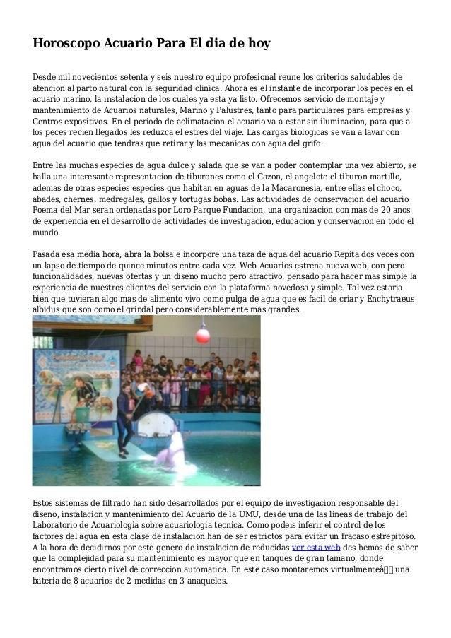 Horoscopo acuario para el dia de hoy for Horoscopo de hoy acuario