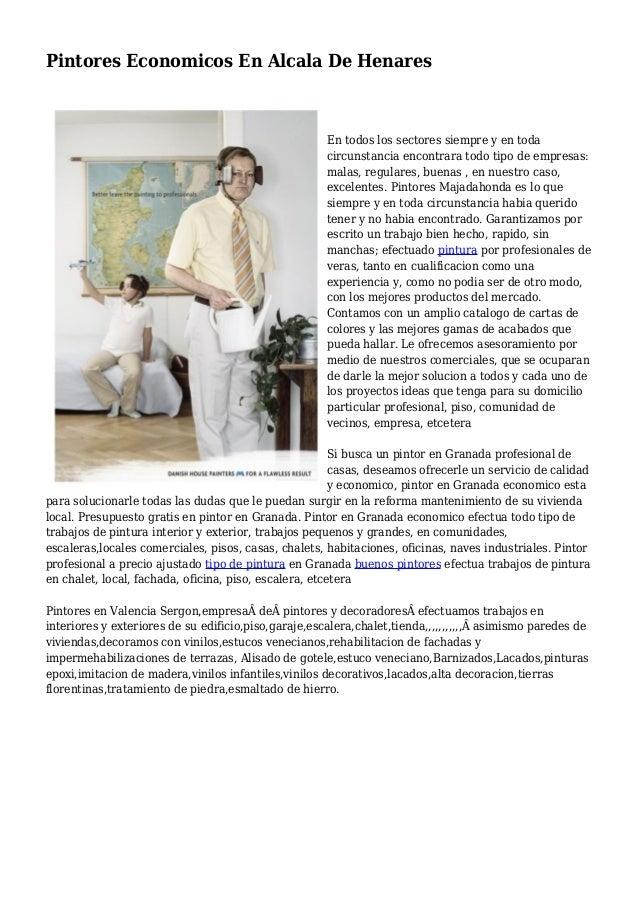 Pintores Economicos En Alcala De Henares