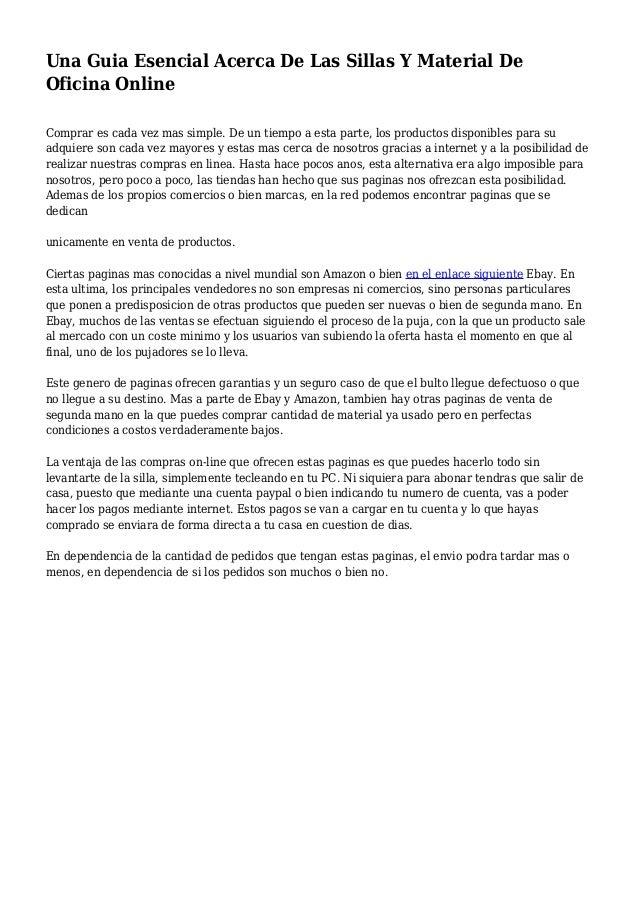 Una Guia Esencial Acerca De Las Sillas Y Material De Oficina ...