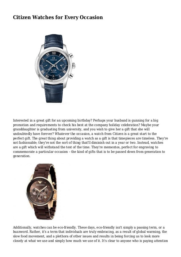 Citizen Watches For Every Occasion