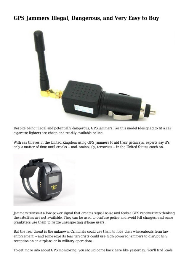 Are gps jammers illegal , undetectable gps jammers really