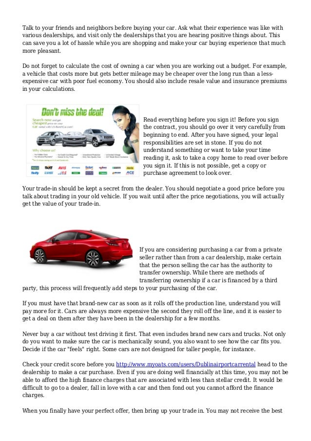Discover The Right Car With These Tips