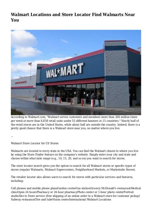 Walmart Locations And Store Locator Find Walmarts Near You