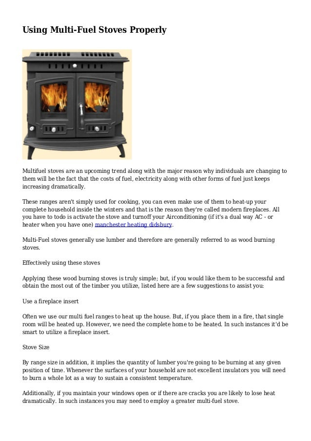 7b588b1135e2 Using Multi-Fuel Stoves Properly