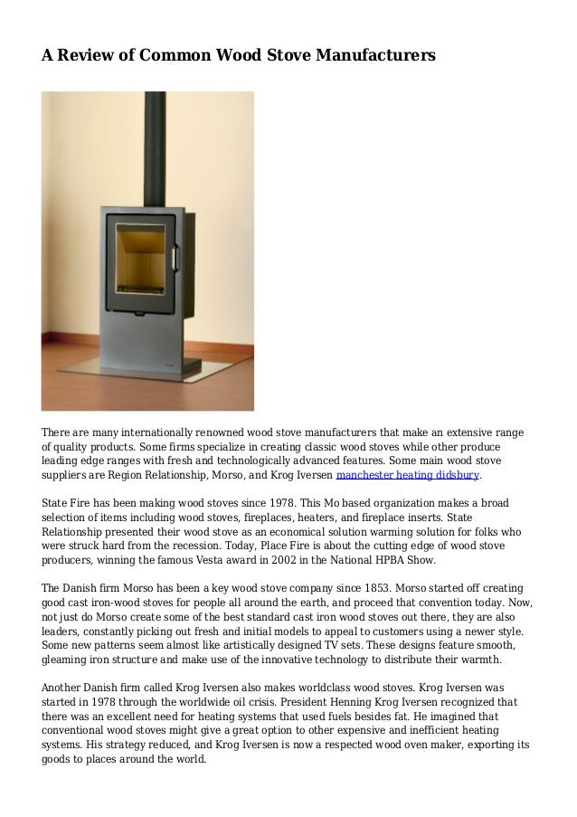 A Review Of Common Wood Stove Manufacturers