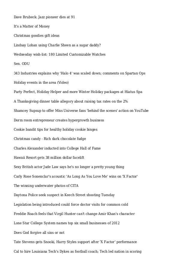 Lyric louisiana rain lyrics : Articles and Reviews for December 5, 2012