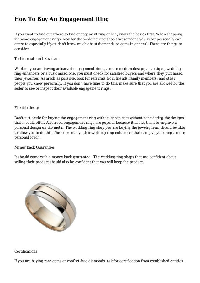 4b09cc9fa42 How To Buy An Engagement Ring If you want to find out where to find  engagement If you are ...