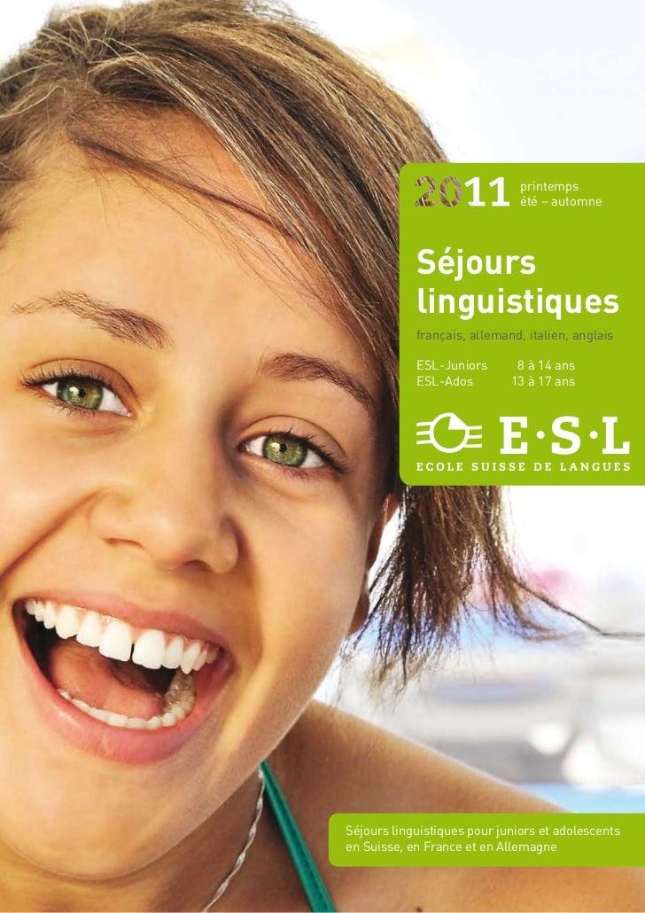 printemps                               été – automne            Séjours            linguistiques            français, all...