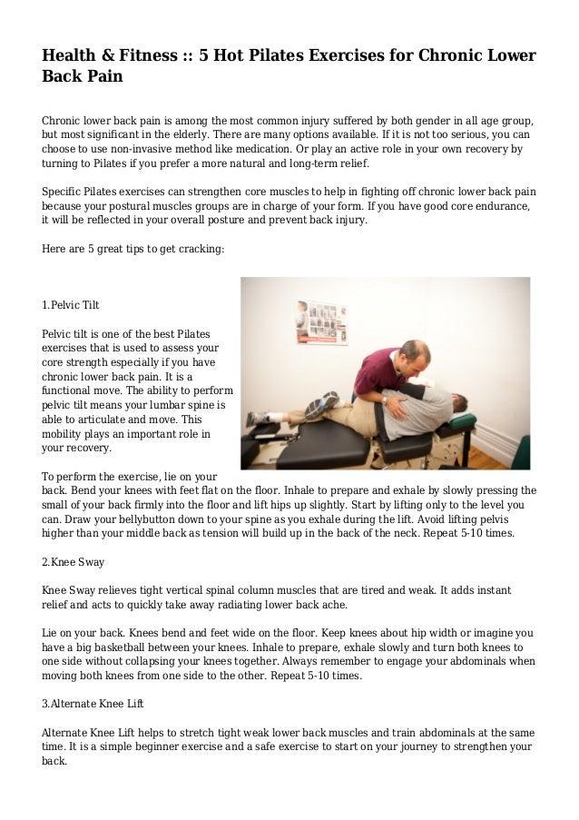 Health & Fitness :: 5 Hot Pilates Exercises for Chronic ...