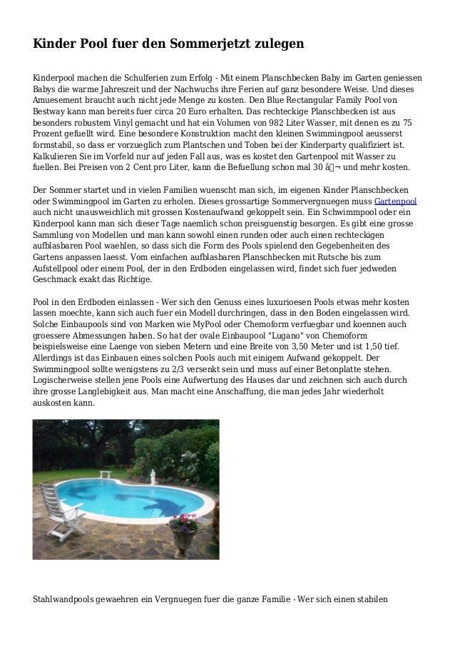 kinder pool fuer den sommerjetzt zulegen. Black Bedroom Furniture Sets. Home Design Ideas
