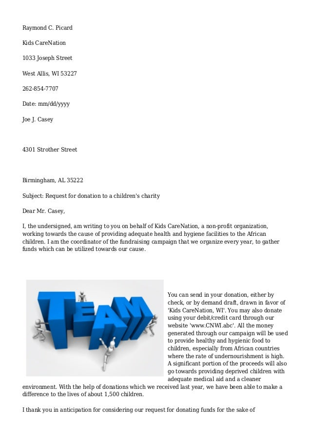 Sample letter of request to use school facility