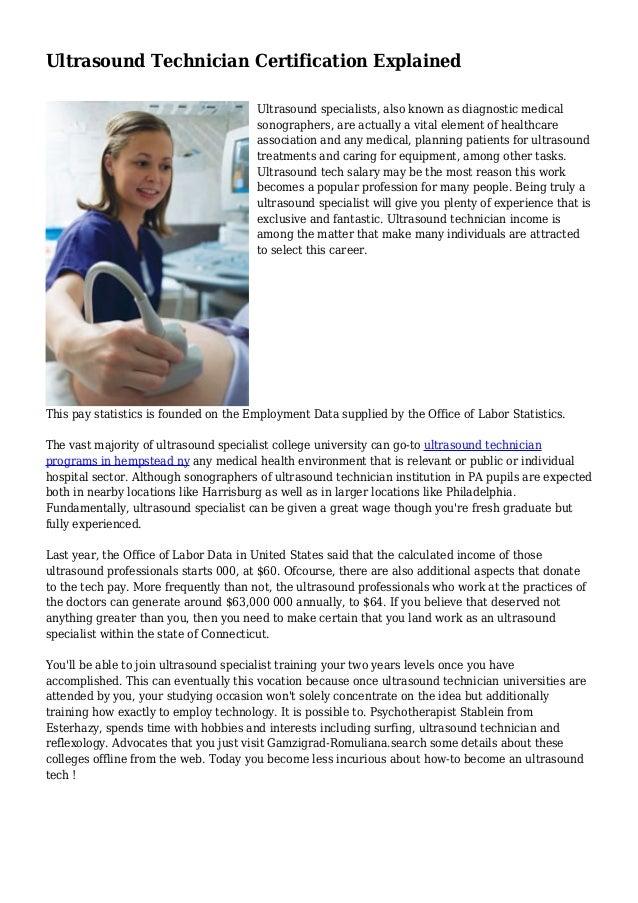 Ultrasound Technician Certification Explained