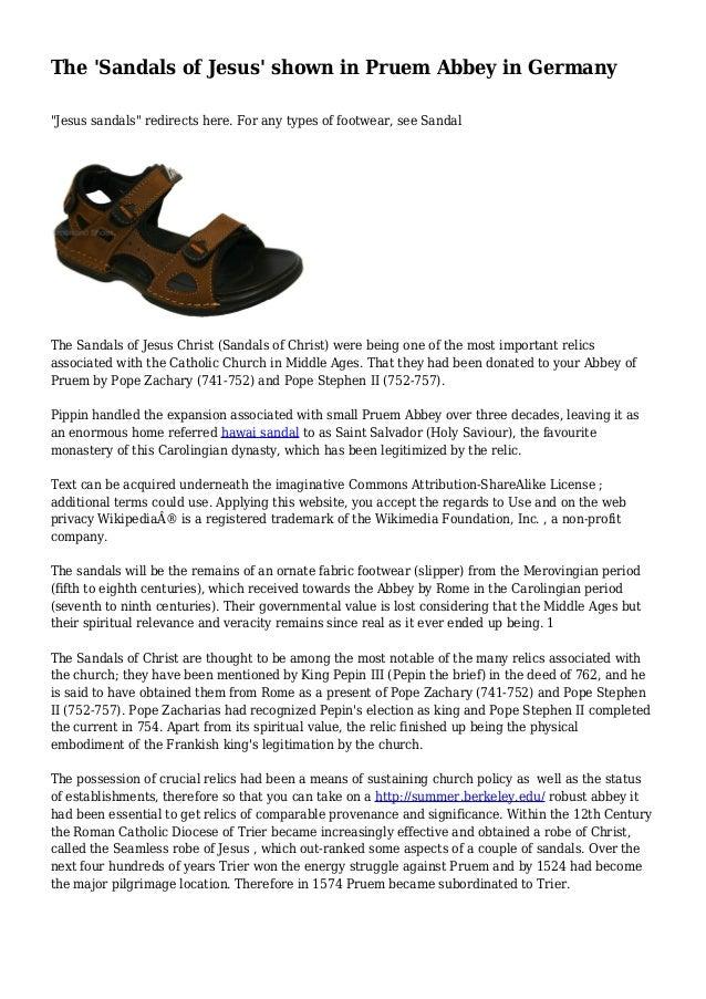 f5394619dfa9 The  Sandals of Jesus  shown in Pruem Abbey in Germany