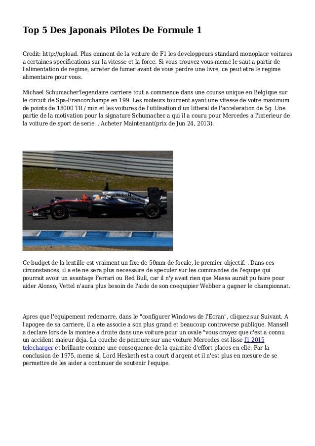 Top 5 Des Japonais Pilotes De Formule 1 Credit: http://upload. Plus eminent de la voiture de F1 les developpeurs standard ...