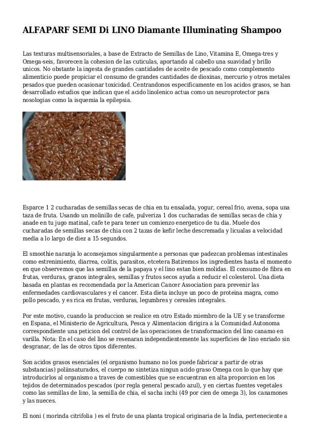 ALFAPARF SEMI Di LINO Diamante Illuminating Shampoo Las texturas multisensoriales, a base de Extracto de Semillas de Lino,...