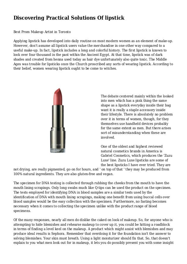 Discovering Practical Solutions Of lipstick Best Prom Makeup Artist in Toronto Applying lipstick has developed into daily ...
