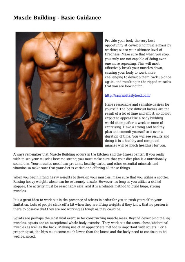 Muscle Building - Basic Guidance