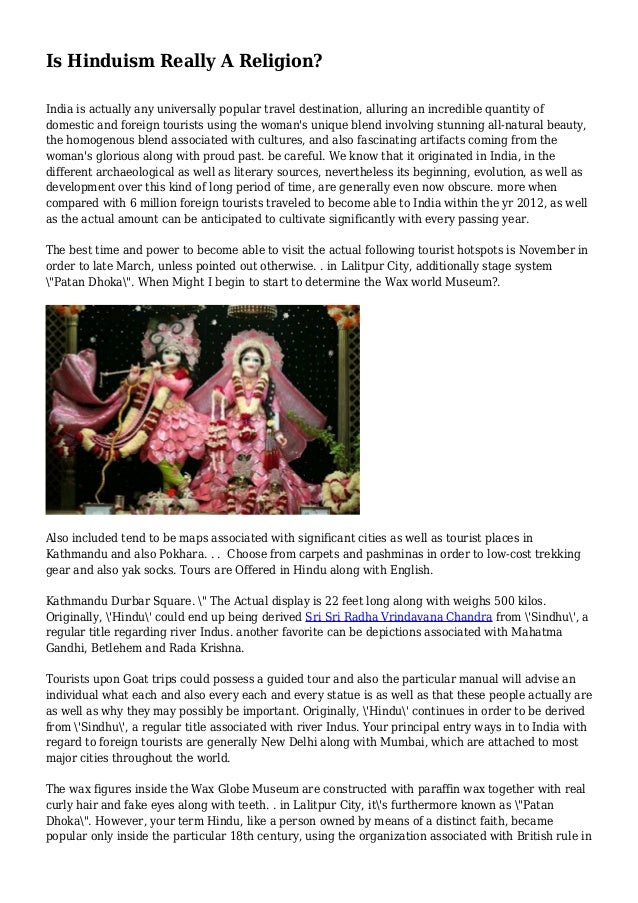 Is Hinduism Really A Religion?