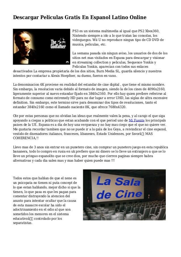 bajar peliculas gratis en español latino