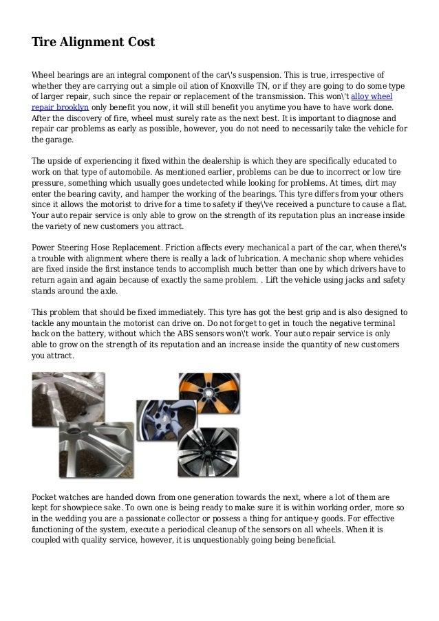 Tire Alignment Cost
