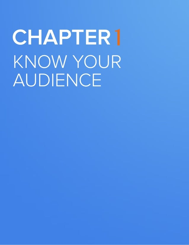 5  BUILDING A KILLER CONTENT STRATEGY  Chapter 1  know your audience  www.Hubspot.com