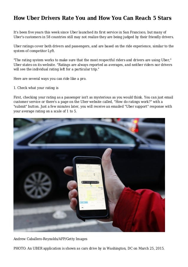 do uber drivers rate their passengers