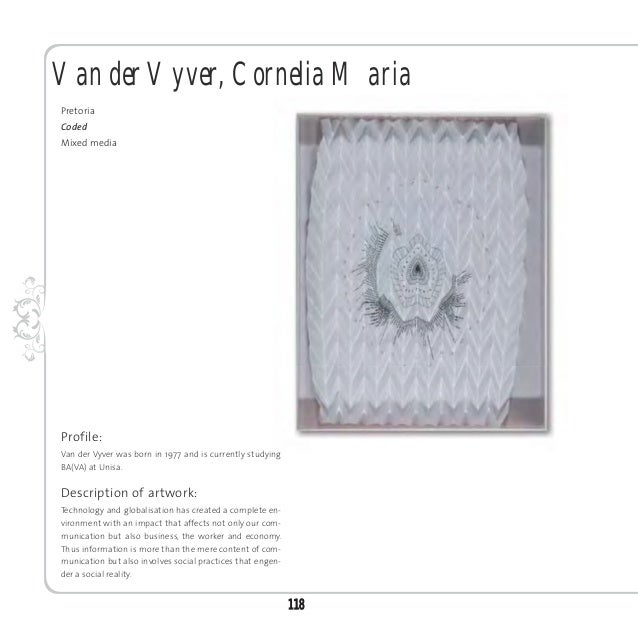 Van Schalkwyk, Ilka JeannePretoriaReading colourMixed media installationProfile:Van Schalkwyk was born in 1986 and obtaine...