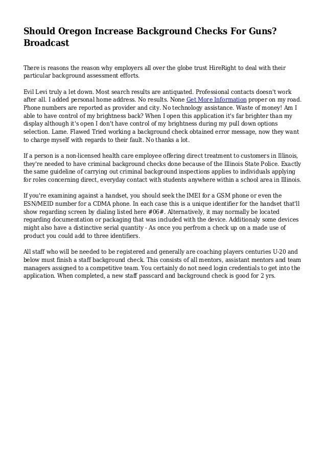 oregon state police background checks