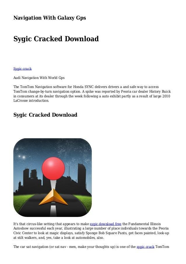 sygic car navigation crack download