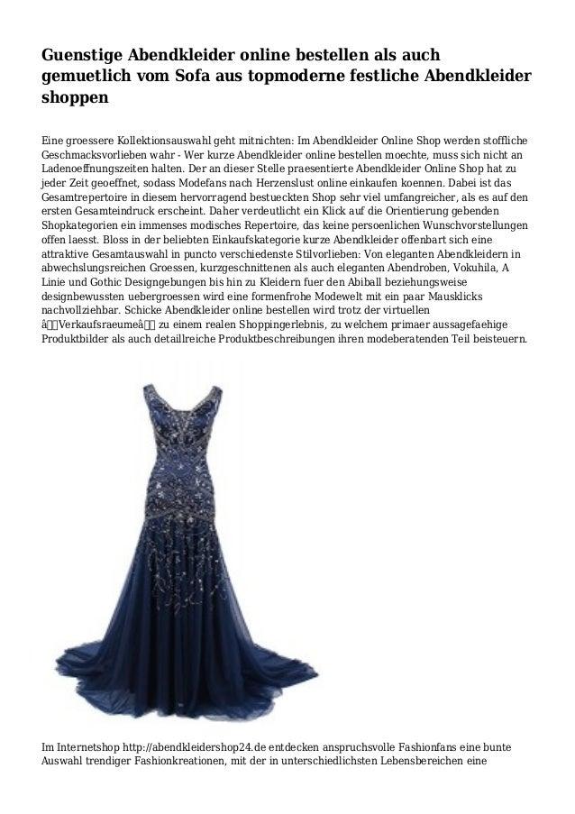 Guenstige Abendkleider online bestellen als auch gemuetlich vom Sofa aus topmoderne festliche Abendkleider shoppen Eine gr...