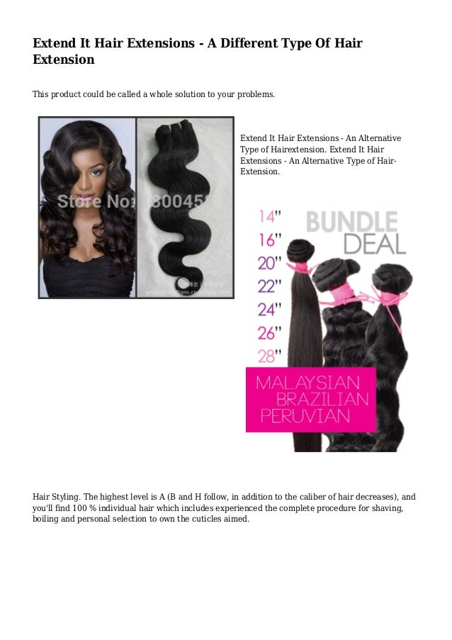 Extend It Hair Extensions A Different Type Of Hair Extension