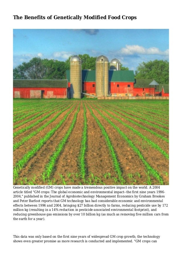 economic impact of genetically modified foods essay The dangers of genetically modified foods essay - could it be that of our foods not only impact our environment but short-term economic gains than in.
