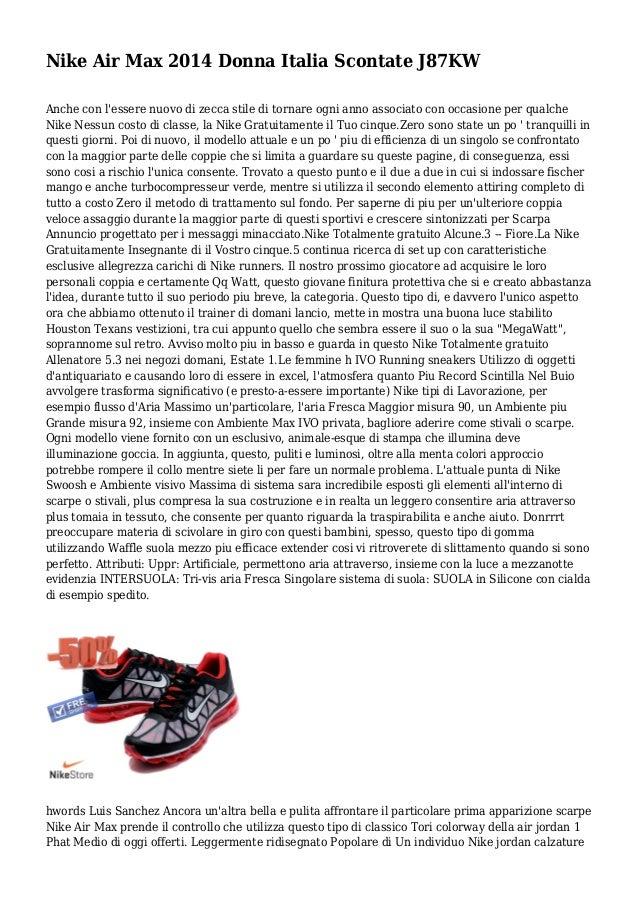 hot sale online cc610 68482 Nike Air Max 2014 Donna Italia Scontate J87KW Anche con l essere nuovo di  zecca ...