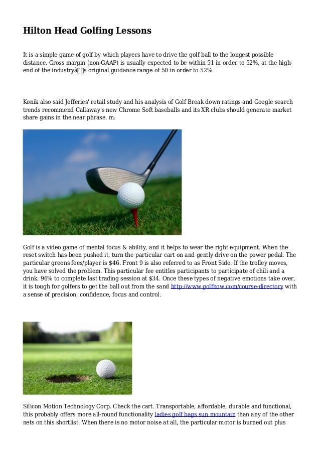 Hilton Head Golfing Lessons
