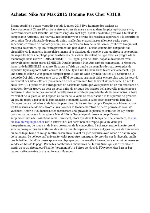 Acheter Nike Air Max 2015 Homme Pas Cher V31LR Il sera possible h quatre-vingt-dix-sept de L'annee 2013 Hyp Running des ba...